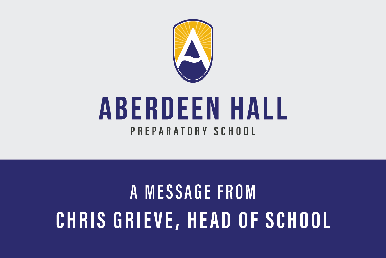 A Message from Head of School - Confidentiality, Trust and Compassion